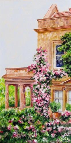 """Italian Villa"" original fine art by Nan Johnson"