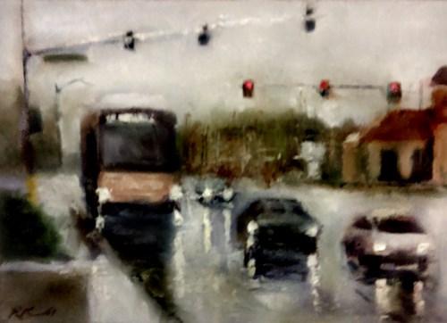 """""""Buffalo Southbound"""" original fine art by Bob Kimball"""