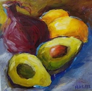 """Ingredients for..."" original fine art by Alice Harpel"