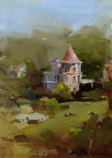 """Beau's Guest House"" original fine art by Qiang Huang"