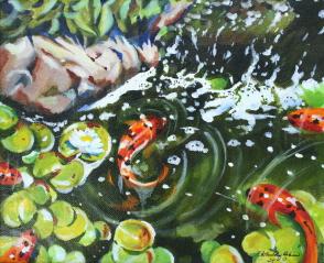 """""""Shower Buddies"""" original fine art by JoAnne Perez Robinson"""
