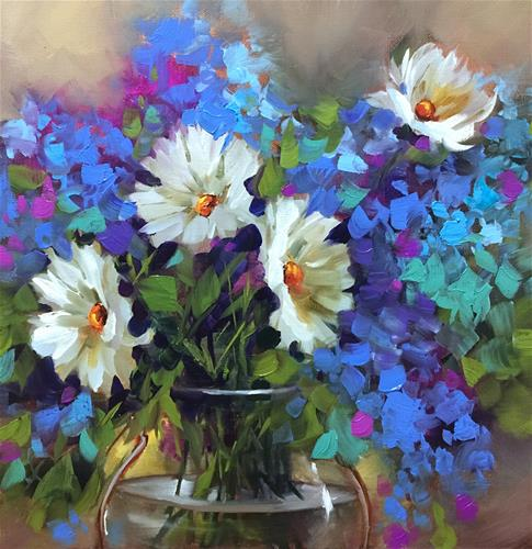 """""""Daisy Bedazzlers and a Kissimmee Florida Workshop"""" original fine art by Nancy Medina"""