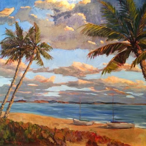 """""""Evening Calm"""" original fine art by Deborah Newman"""