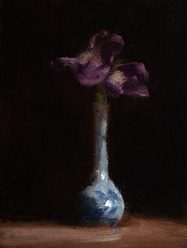 """""""Iris in Bud Vase"""" original fine art by Neil Carroll"""