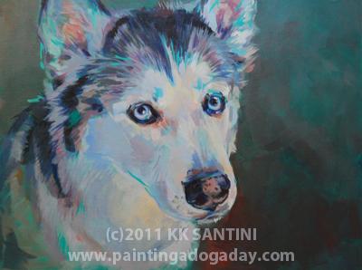 """Mya, A Lesson Painting, Part II of II"" original fine art by Kimberly Santini"