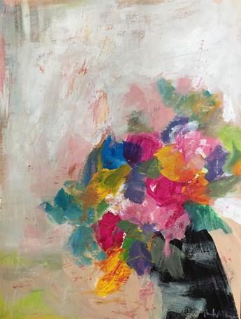 """Tentative Spring"" original fine art by Pamela Munger"