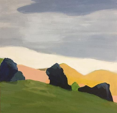 """Modern Landscape II"" original fine art by Pamela Munger"