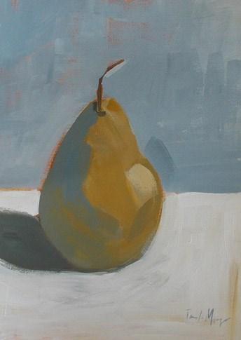 """""""Fall Pear"""" original fine art by Pamela Munger"""