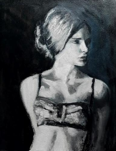 """Getting dressed"" original fine art by Rentia Coetzee"