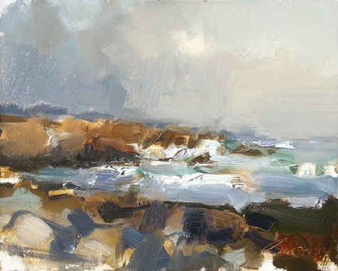 """Painting in California 1 First Impression"" original fine art by Roos Schuring"