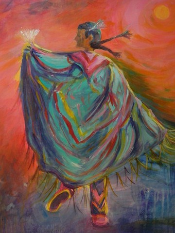"""Moon Dancer"" original fine art by Gloria Urban"