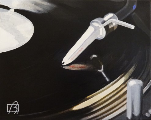 """Platine vinyle IV"" original fine art by Andre Beaulieu"