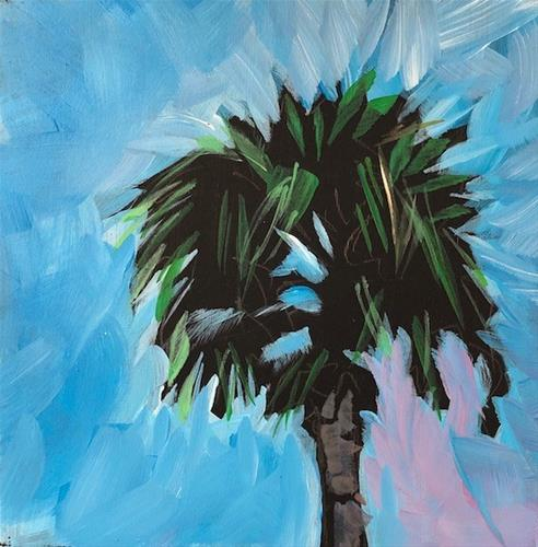 """Homestead Palm"" original fine art by Kat Corrigan"