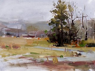 """Arkansas Countryside"" original fine art by Qiang Huang"