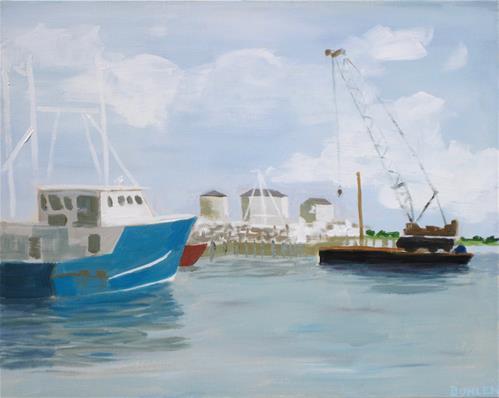 """""""Cape May Marina"""" original fine art by Priscilla Bohlen"""