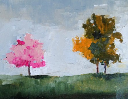 """Tree Color"" original fine art by Pamela Munger"