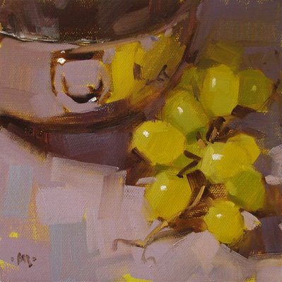 """Grape Reflections & Good Morning"" original fine art by Carol Marine"