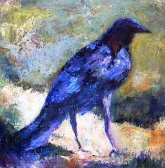 """""""Fall Raven"""" original fine art by Scarlet Owl Studio"""