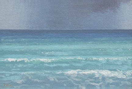 """Cuban Seascape No. 2 (Varadero) -- Cuba 2012 painting #4"" original fine art by Abbey Ryan"