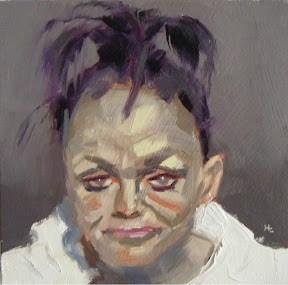 """""""FACE-IT.  #18"""" original fine art by Helen Cooper"""