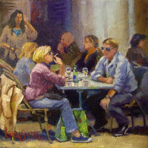"""Gathering Place"" original fine art by Linda K Smith"
