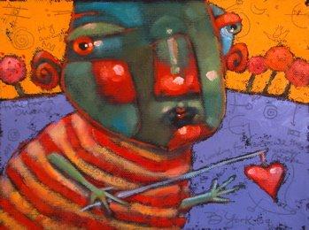 """Fishin' For Love"" original fine art by Brenda York"