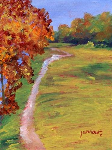 """ORIGINAL AUTUMN LANDSCAPE PAINTING"" original fine art by Sue Furrow"