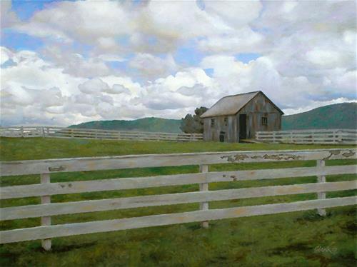 """Abandoned"" original fine art by David Clark"