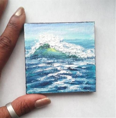 """""""Wave"""" original fine art by Camille Morgan"""