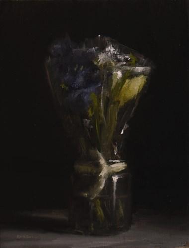 """""""Bouquet in Plastic Wrap"""" original fine art by Neil Carroll"""