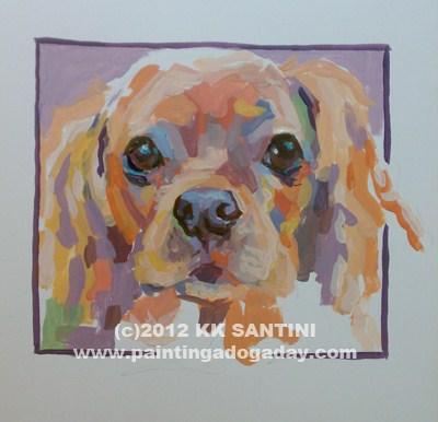 """Mazie Lou, A Painted Sketch"" original fine art by Kimberly Santini"