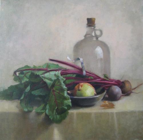 """Beets and Bottle"" original fine art by Kathy Weber"