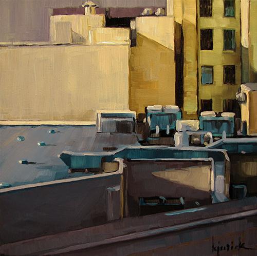 """Roofscape"" original fine art by Karin Jurick"