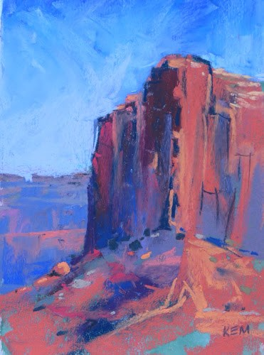 """A Room with a View...Monument Valley"" original fine art by Karen Margulis"