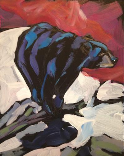 """Bruin Perch"" original fine art by Kat Corrigan"