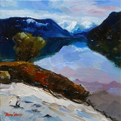 """King lake"" original fine art by Jurij Frey"