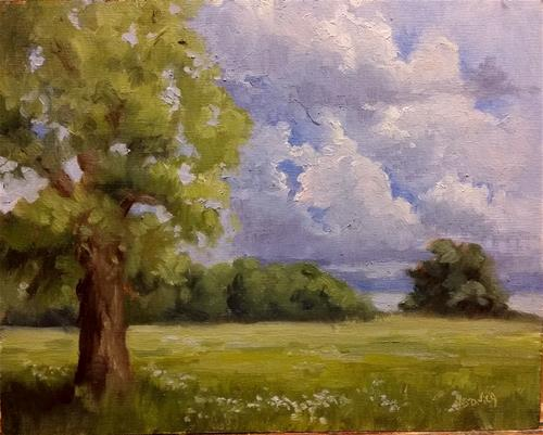 """Summer 1-en plein air"" original fine art by Veronica Brown"
