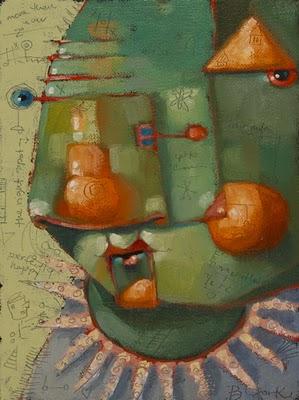 """Major Tom"" original fine art by Brenda York"