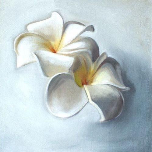 """""""Plumeria Blossoms"""" original fine art by Lauren Pretorius"""