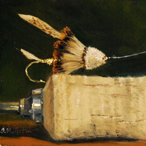 """The Muddler Minnow"" original fine art by Susan Matteson"