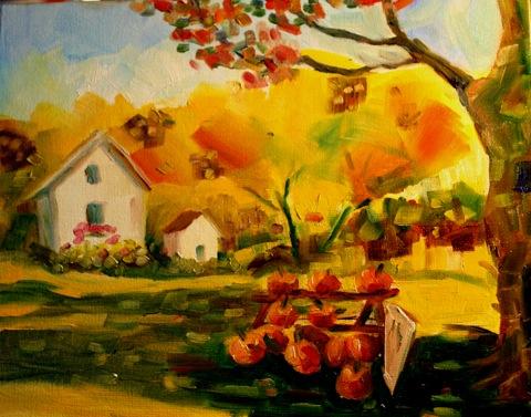 """Fields of Gold"" original fine art by Maggie Flatley"