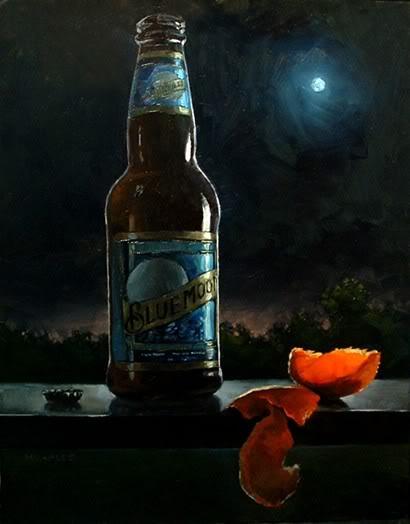 """Blue Moon with Blue Moon"" original fine art by Michael Naples"