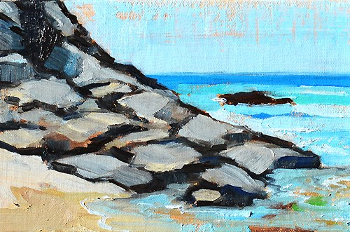 """Dana Point Beach Painting"" original fine art by Kevin Inman"