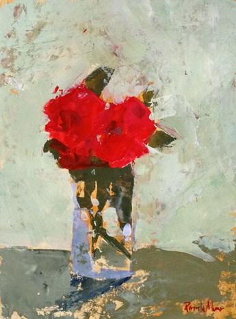 """""""red floral II"""" original fine art by Pamela Munger"""