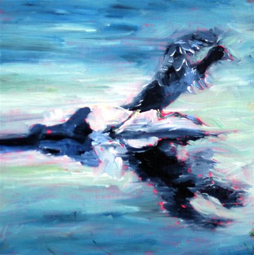 """""""Quick  Little Bird"""" original fine art by Kristen Dukat"""