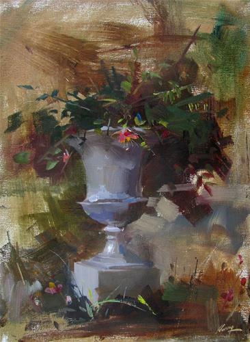 """Spring at Dallas"" original fine art by Qiang Huang"