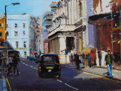 """Raking Light Burlington Gardens"" original fine art by Adebanji Alade"