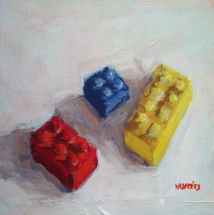 """lego"" original fine art by Shelley Garries"