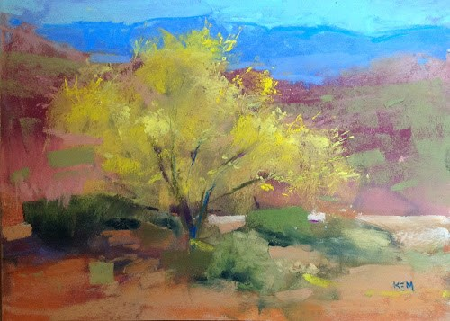 """Painting Arizona 2014...Day 1"" original fine art by Karen Margulis"