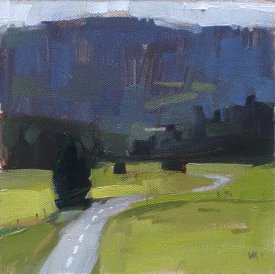 """Follow the Highway"" original fine art by Carol Marine"